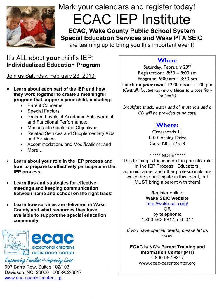 IEP Workshop Flyer